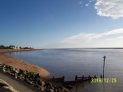 A sunny Christmas Day on Exmouth beach, after the swim event