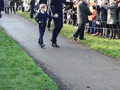 Prince George first appearance at Sandringham