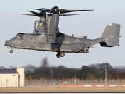 CV-22 Osprey landing at Mildenhall.