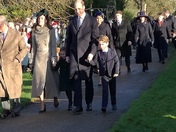 Prince George and Princess Charlotte on their first walk at Sandringham