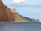 Triassic and other cliffs at Sidmouth's shore line