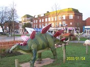 The 'dinosaur' in the Strand after sunrise