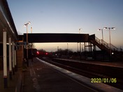 Honiton Railway Station after dusk