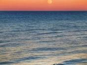 Moonrise over West Runton