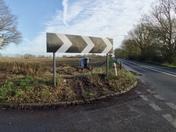 Car crash - Big sign ! Jan 2020 last week