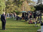 The Media at Sandringham this morning