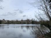 Cold afternoon at uni lake