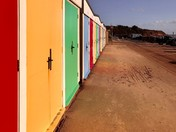Exmouth Beach Hut Reflections