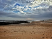 Weather: Blustery Gorleston beach
