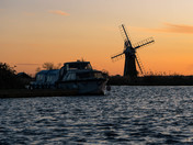 Sunset over St Benet's Level Windpump on the Thurne.