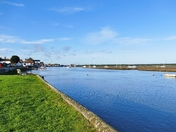 VIEW FROM EAST QUAY AT WELLS ON A BRIGHT WINTERS DAY