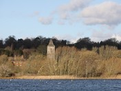 Thorpe St Andrews Church from across the Broad at Whitlingham Country Park