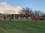 Air Ambulance lands in Abbey Green, Barking