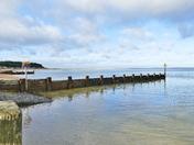 wells beach in winter