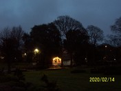 Manor Gardens after dusk