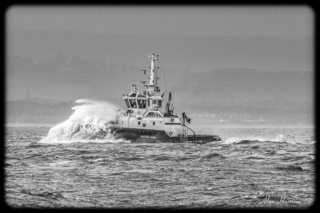 Tug in the channel