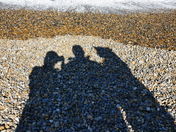 PROJ 52, SHADOWS, OF US ON THE BEACH
