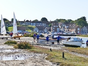 MAKING THE MOST OF THE HIGH TIDE AT BLAKENEY