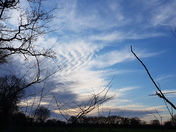 Cloud formations on blustery walk