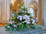ALWAYS BEAUTIFUL FLOWER DISPLAY'S IN THE CATHEDRAL