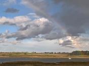 Rainbow over the river Deben