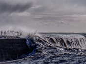 Storm Jorge at Lyme Regis