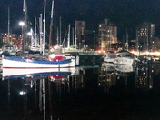 Reflections of Ipswich Waterfront at night.(challenge)