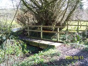 A footbridge on Honiton Bottom Road Nature Reserve