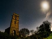 Moonlit Panxworth All Saints ruin ....