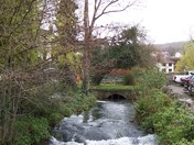 Stream flowing through Cheddar