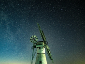 Beautiful Thurne mill under starry skies.