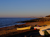 Sunday Sunrise - we got out early for our exercise at Felixstowe:)