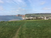 Looking eastwards over Sidmouth