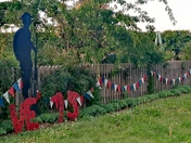 My dad Phillip Hooks have made this display outside his house for VE Day.