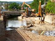 Historic Alma Bridge removed