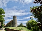 Lovely Skies over Aldham Church