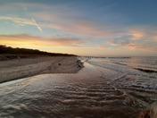 North Denes Beach Lowestoft at sunset