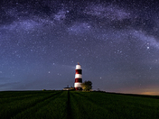 Milky way over Happisburgh lighthouse.