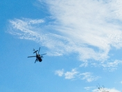 Apache helicopters on training exercise