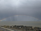 Rainbow over Ness Point today