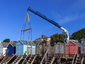 Lockdown easing: beach huts on the move in Felixstowe!