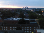 Covid Days , Dawn and Moonly Nights in Clean Sky over London, UK