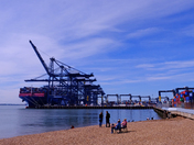 Busy day at Felixstowe docks
