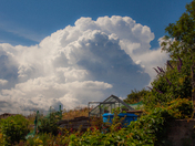 Thunder clouds over Exmouth.