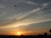 Wattisham Apaches at dusk.