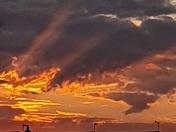 Friday night sunset at Needham Market