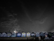 Midnight moonlight Southwold