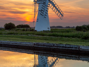 Sunset Reflections at Thurne Mill