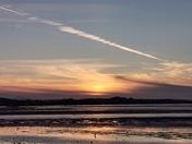 Beautiful sunset across the Exe Estuary