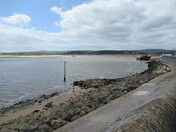 Low tide by the Exmouth sea-wall